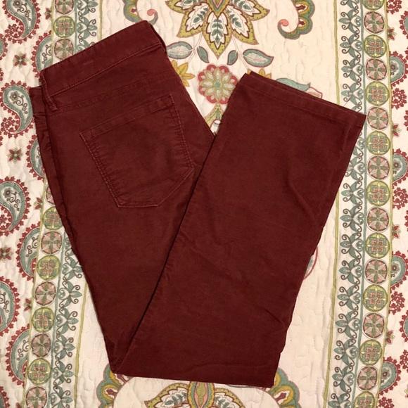 LOFT Pants - Cranberry corduroy pants